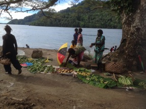 roadside market on Bougainville