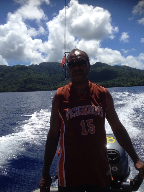 Peter Igua the lodge owner and boatman, Tabar Island